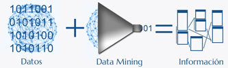 Datos + Data Mining = Información